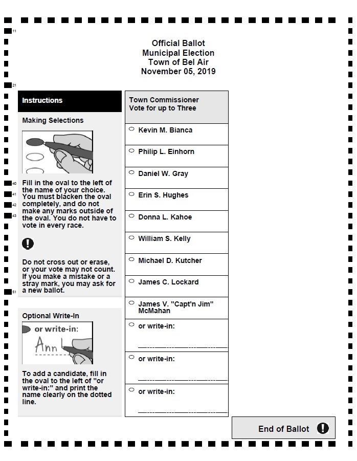 Bel Air 2019 Ballot