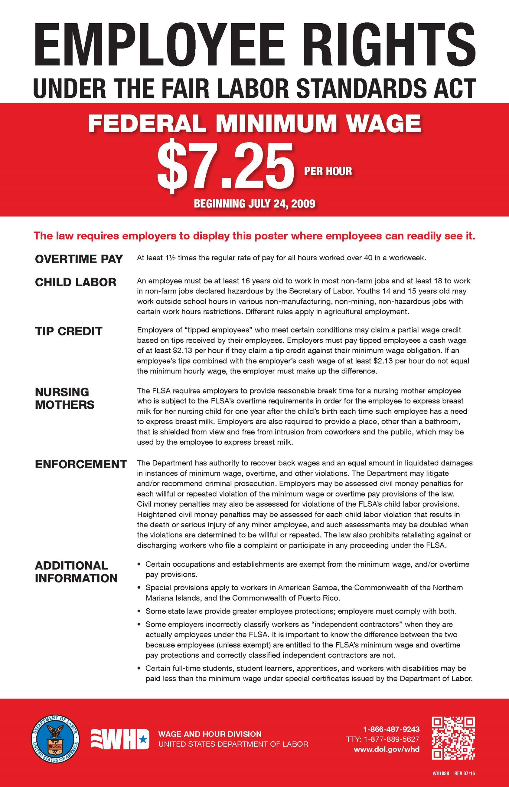 Federal Minimum Wage Poster