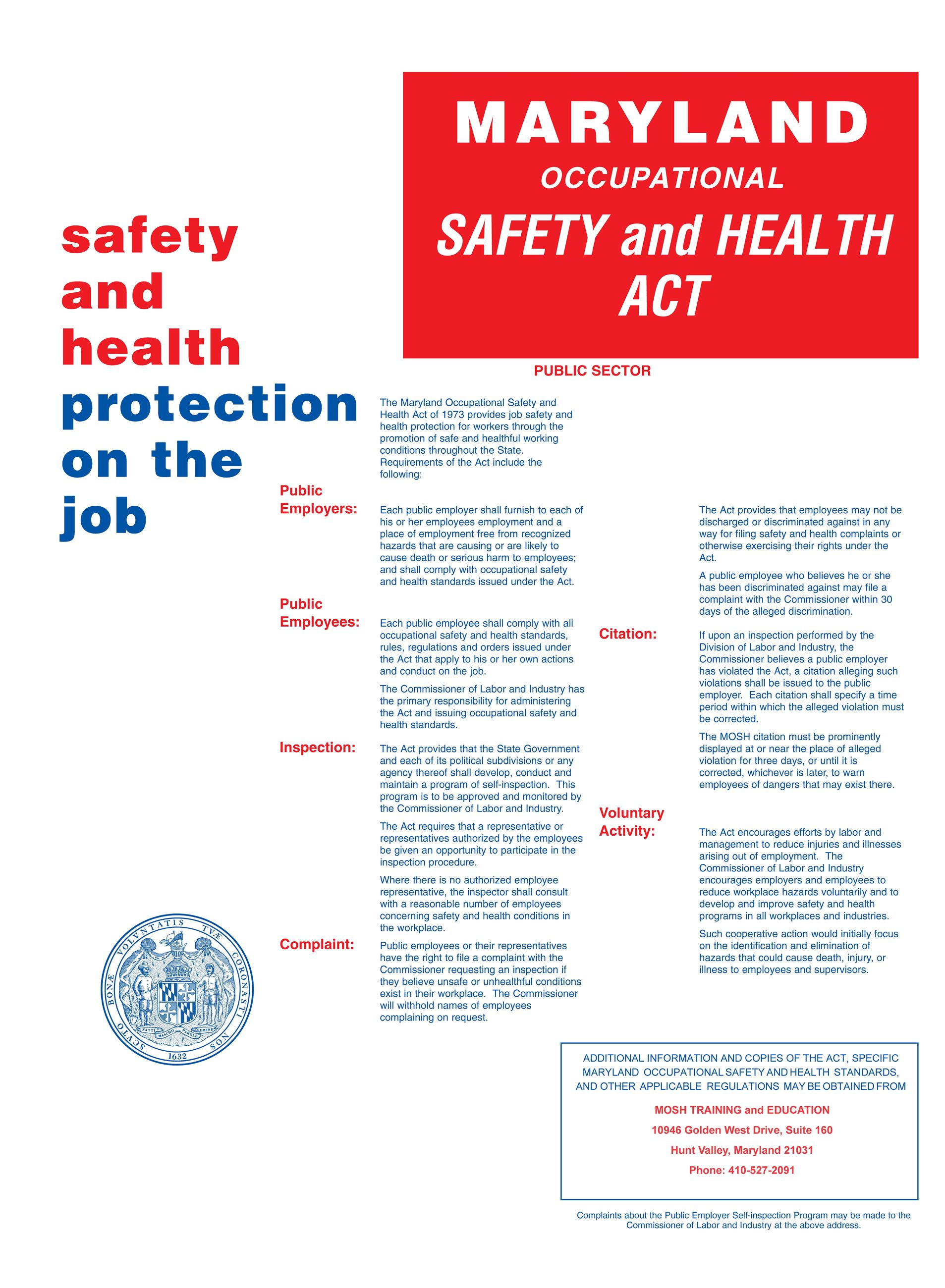 Maryland Occupational Safety and Health Act